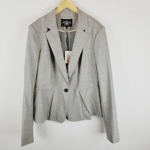Rachel Roy wool blend grey blazer nwt size 14